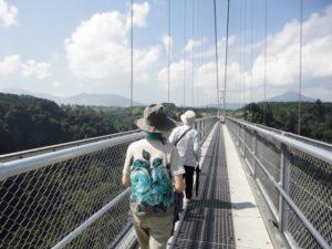 旅行つり橋